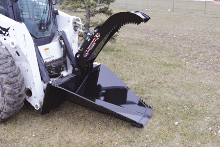 Rotary Tree Cutter Skid Loader